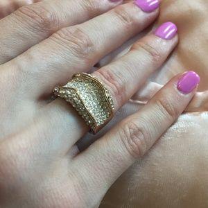 Rhinestone encrusted ring, 6